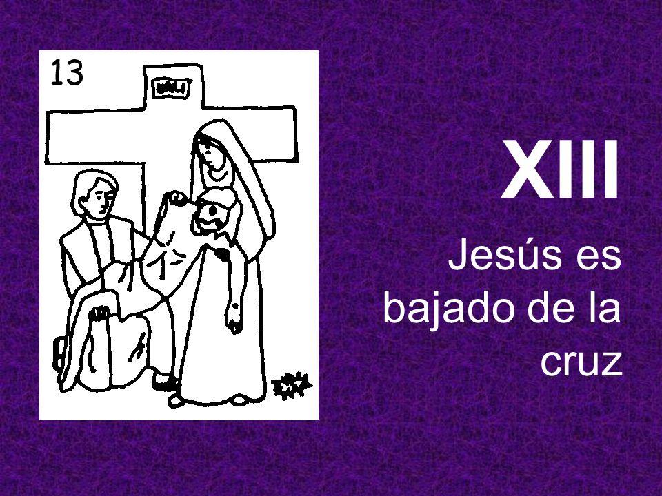 XIII Jesús es bajado de la cruz