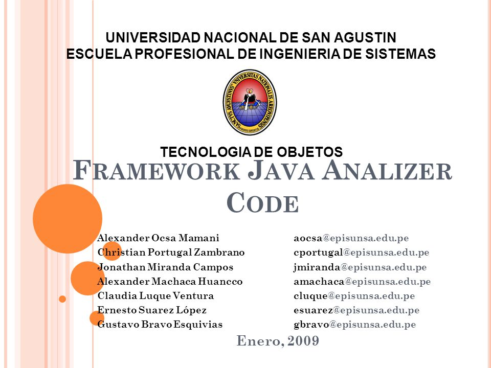 Framework Java Analizer Code