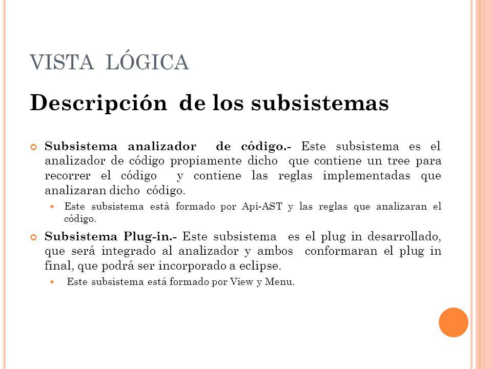 Descripción de los subsistemas