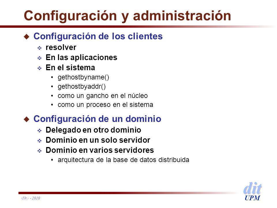 Configuración y administración