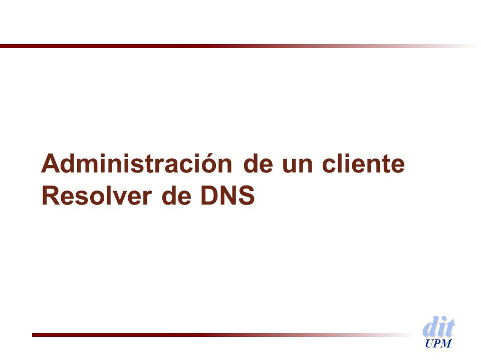 Administración de un cliente Resolver de DNS