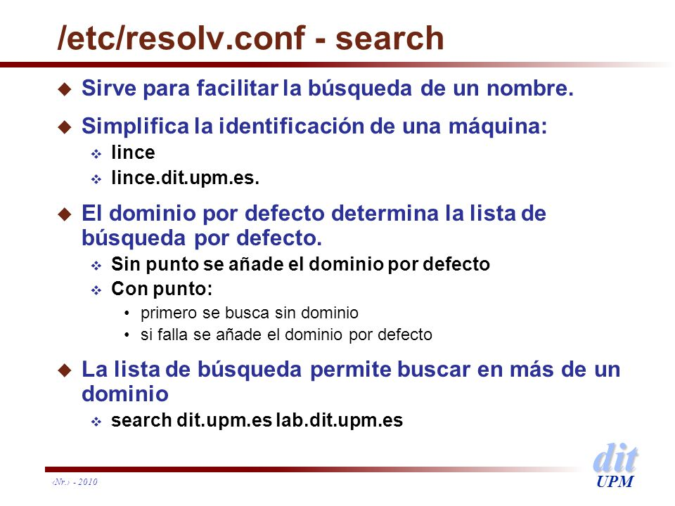 /etc/resolv.conf - search