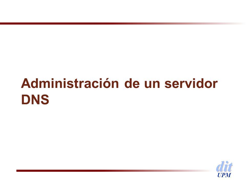 Administración de un servidor DNS