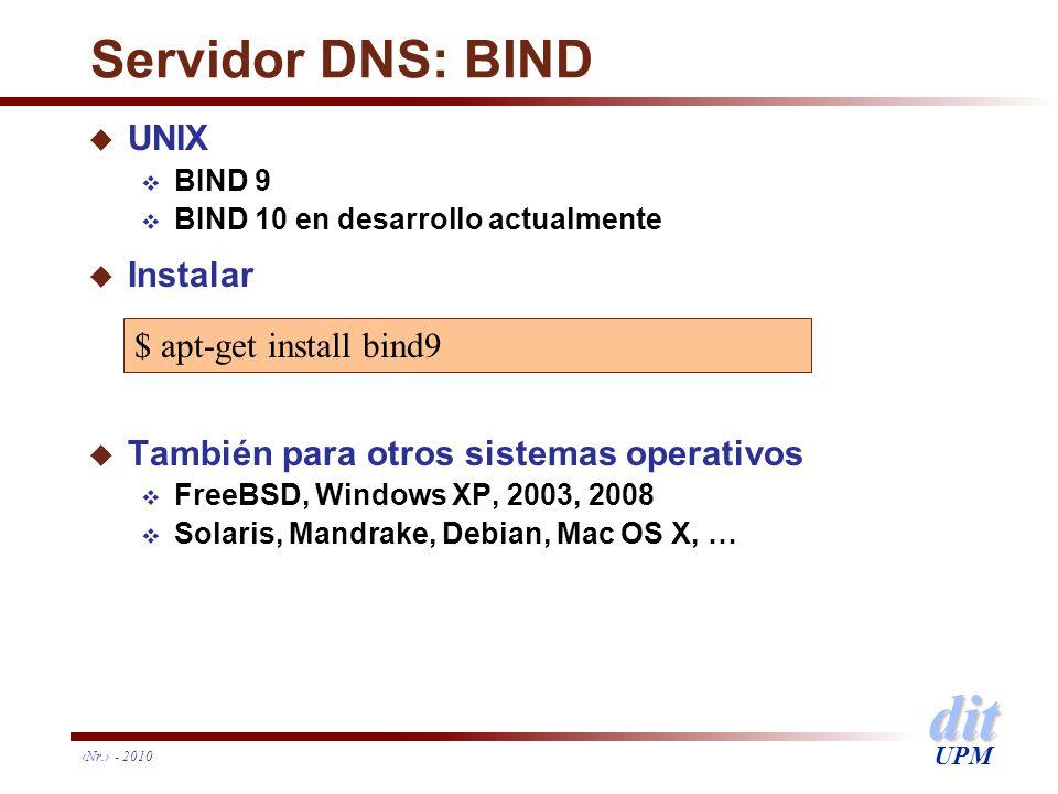 Servidor DNS: BIND UNIX Instalar