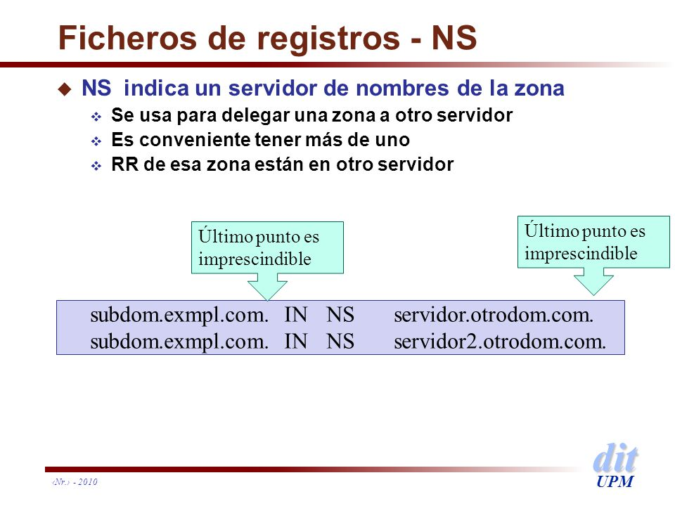 Ficheros de registros - NS