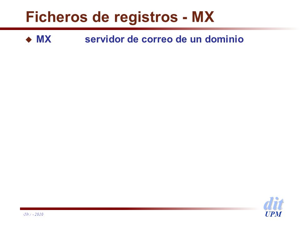 Ficheros de registros - MX