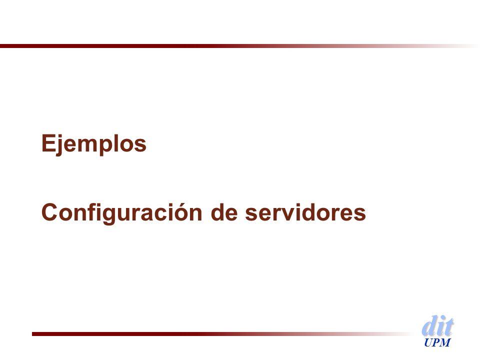 Ejemplos Configuración de servidores