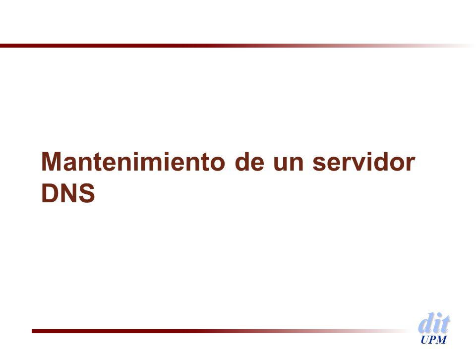Mantenimiento de un servidor DNS