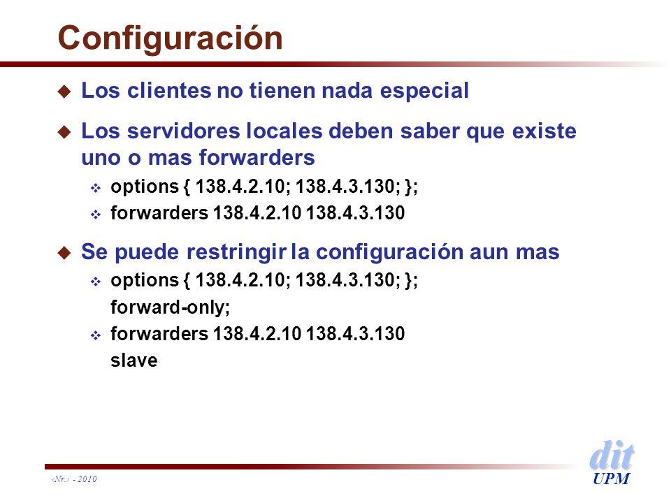 Configuración Los clientes no tienen nada especial