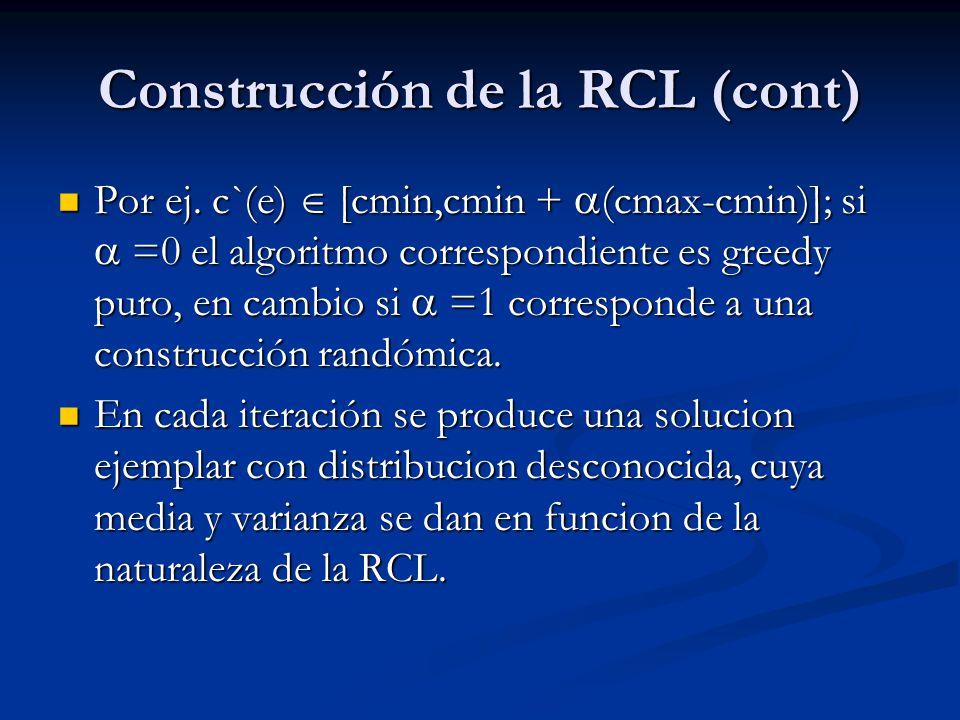 Construcción de la RCL (cont)