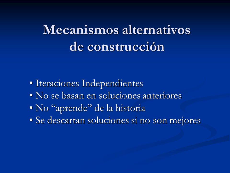 Mecanismos alternativos de construcción