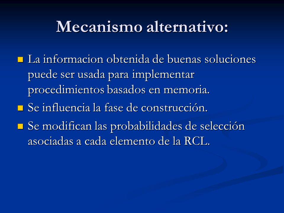 Mecanismo alternativo: