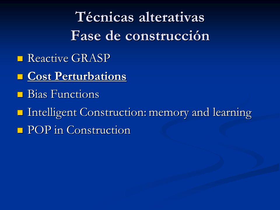 Técnicas alterativas Fase de construcción