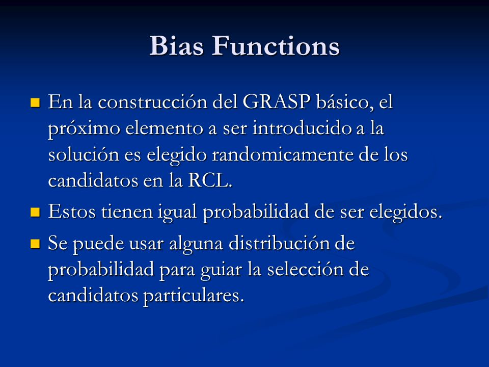 Bias Functions