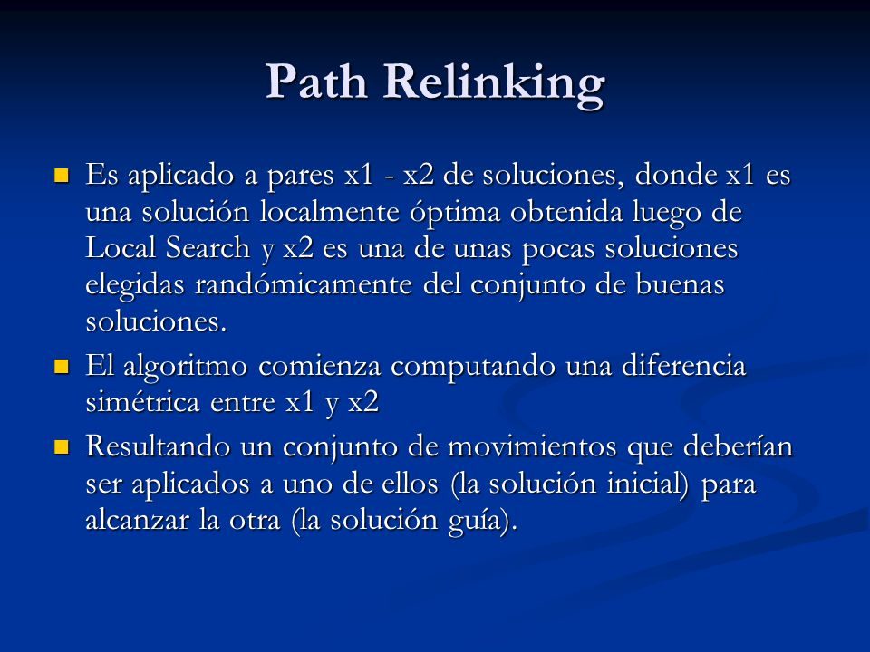 Path Relinking