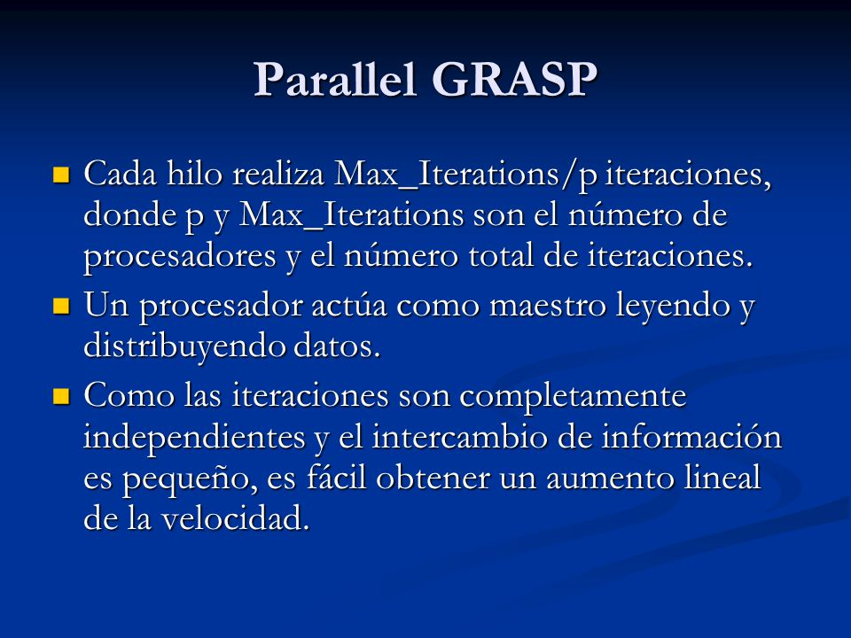 Parallel GRASP