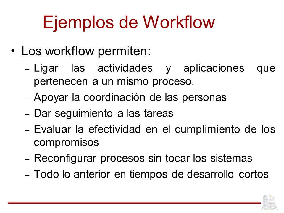 Ejemplos de Workflow Los workflow permiten: