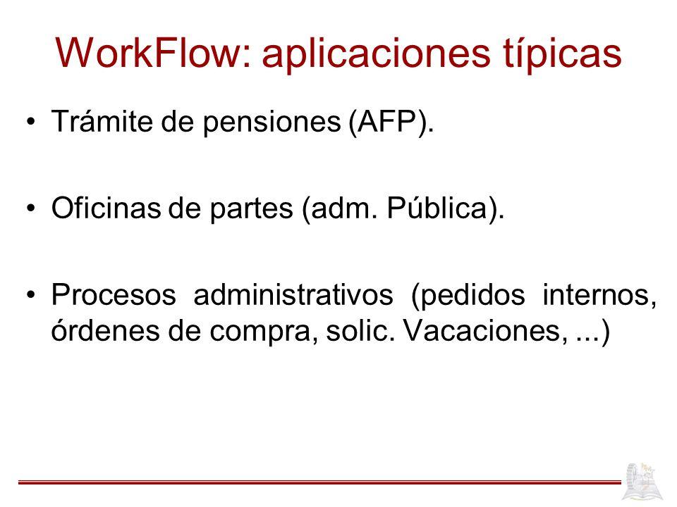 WorkFlow: aplicaciones típicas