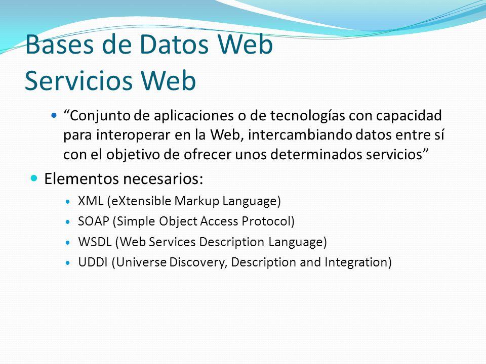 Bases de Datos Web Servicios Web