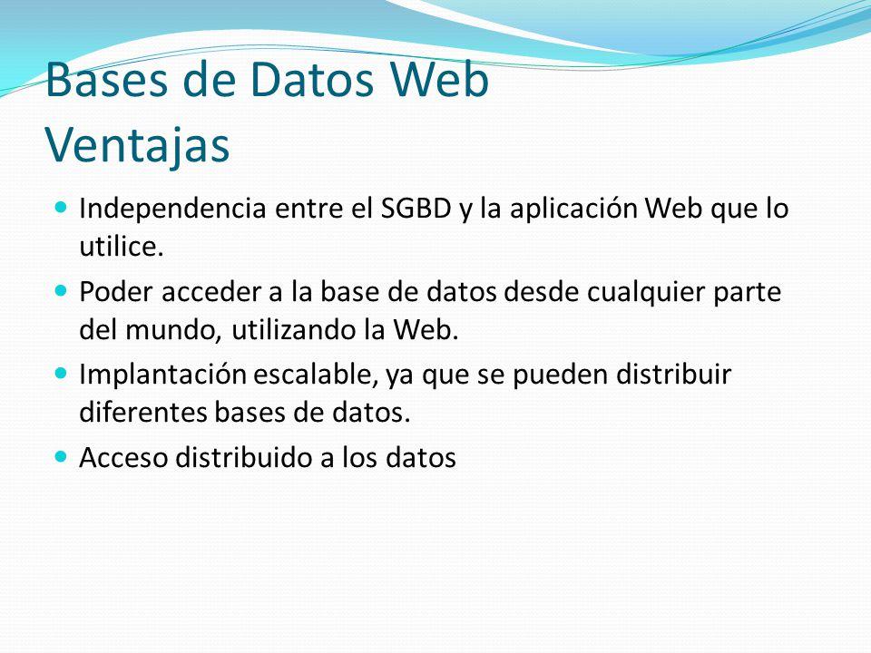 Bases de Datos Web Ventajas