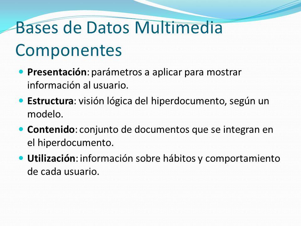 Bases de Datos Multimedia Componentes