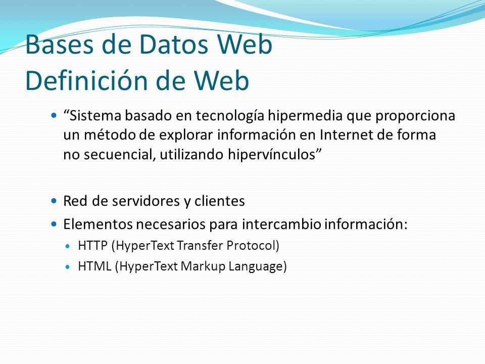 Bases de Datos Web Definición de Web