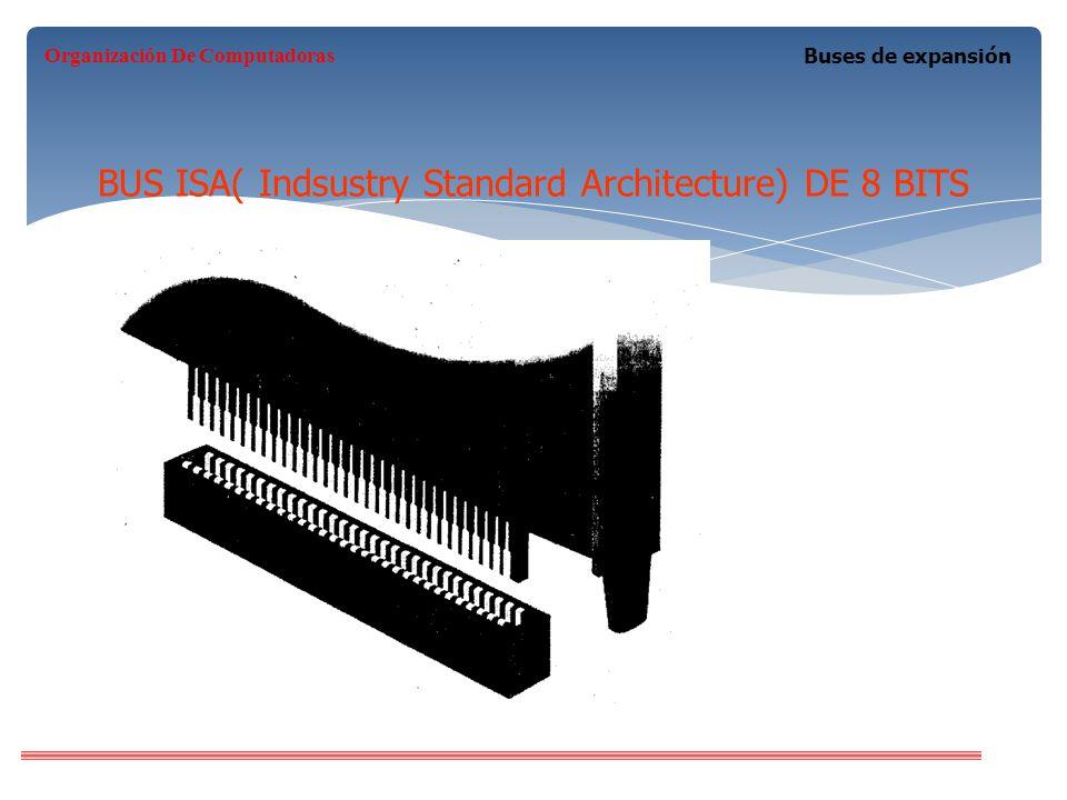 BUS ISA( Indsustry Standard Architecture) DE 8 BITS