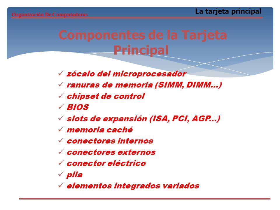 Componentes de la Tarjeta Principal