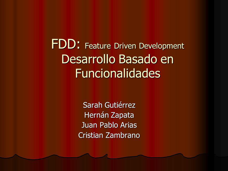 FDD: Feature Driven Development Desarrollo Basado en Funcionalidades