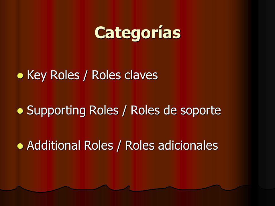 Categorías Key Roles / Roles claves