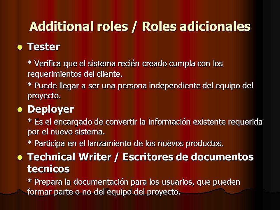 Additional roles / Roles adicionales