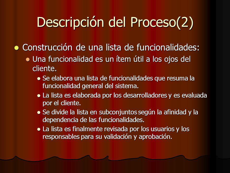 Descripción del Proceso(2)