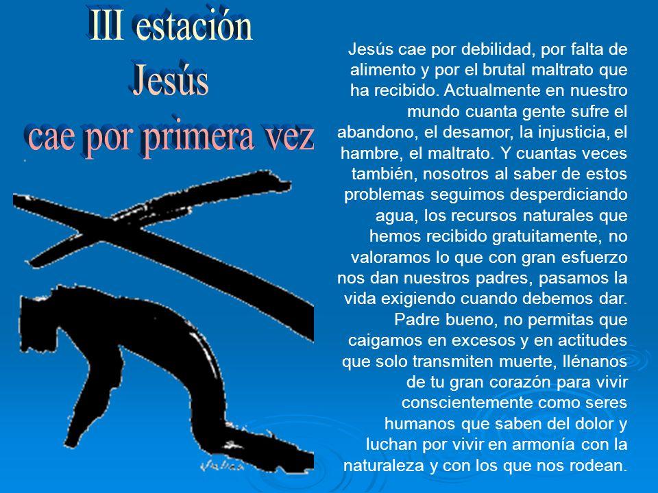 III estación Jesús cae por primera vez