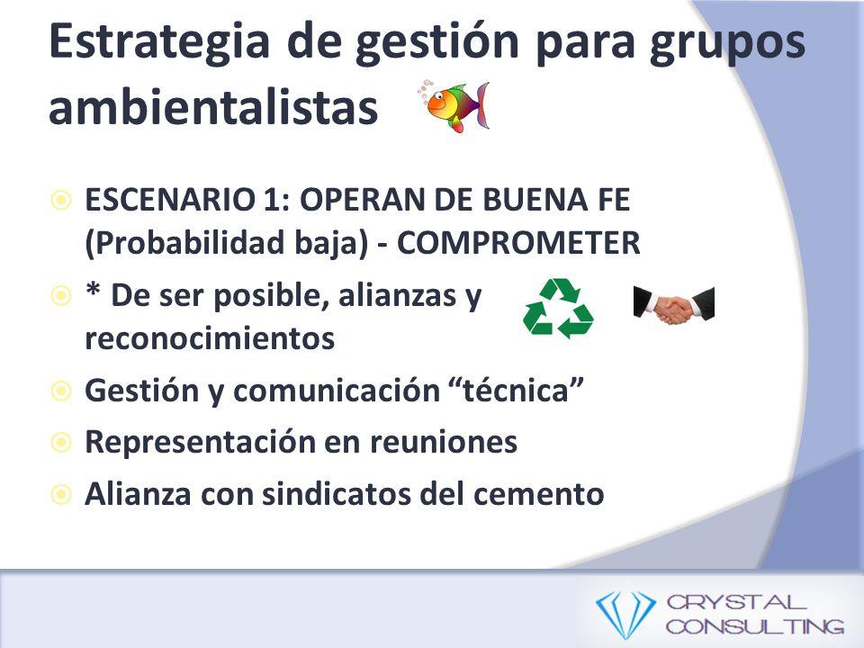 Estrategia de gestión para grupos ambientalistas