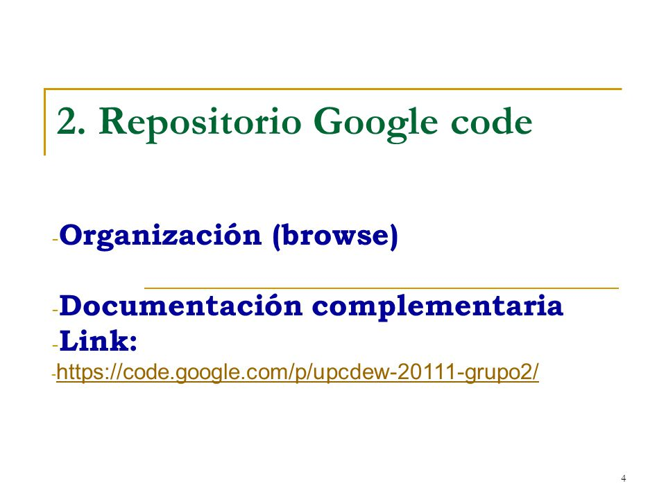 2. Repositorio Google code