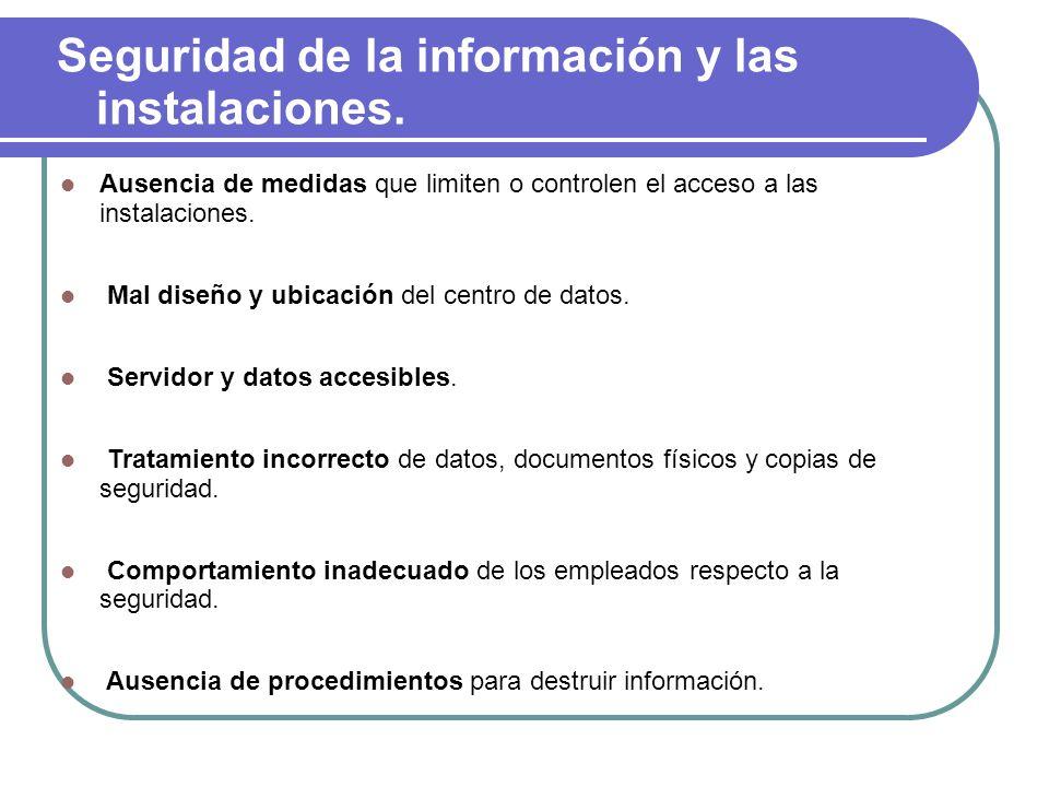 Seguridad de la información y las instalaciones.