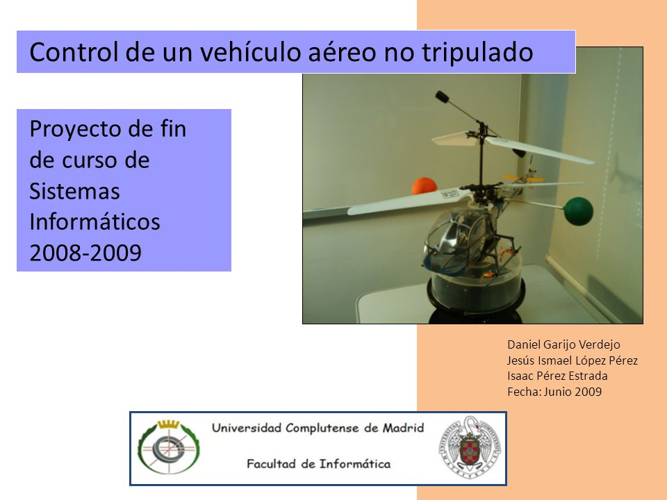 Control de un vehículo aéreo no tripulado