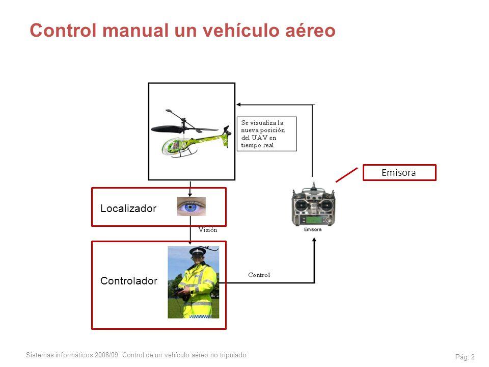 Control manual un vehículo aéreo