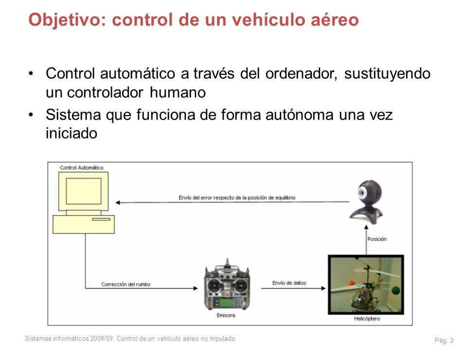 Objetivo: control de un vehículo aéreo