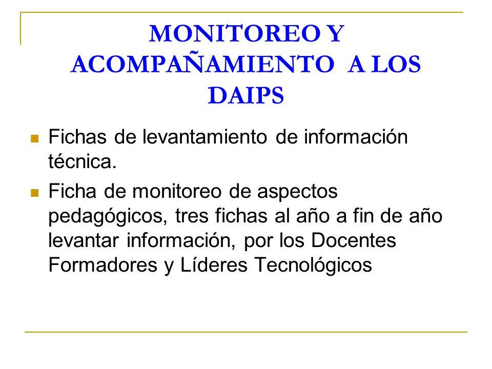 MONITOREO Y ACOMPAÑAMIENTO A LOS DAIPS