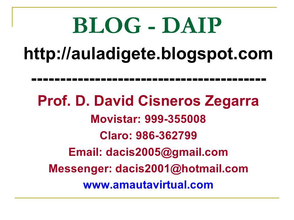 BLOG - DAIP http://auladigete.blogspot.com