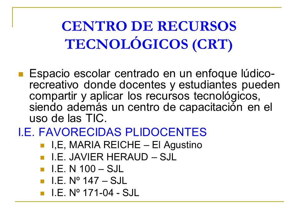 CENTRO DE RECURSOS TECNOLÓGICOS (CRT)