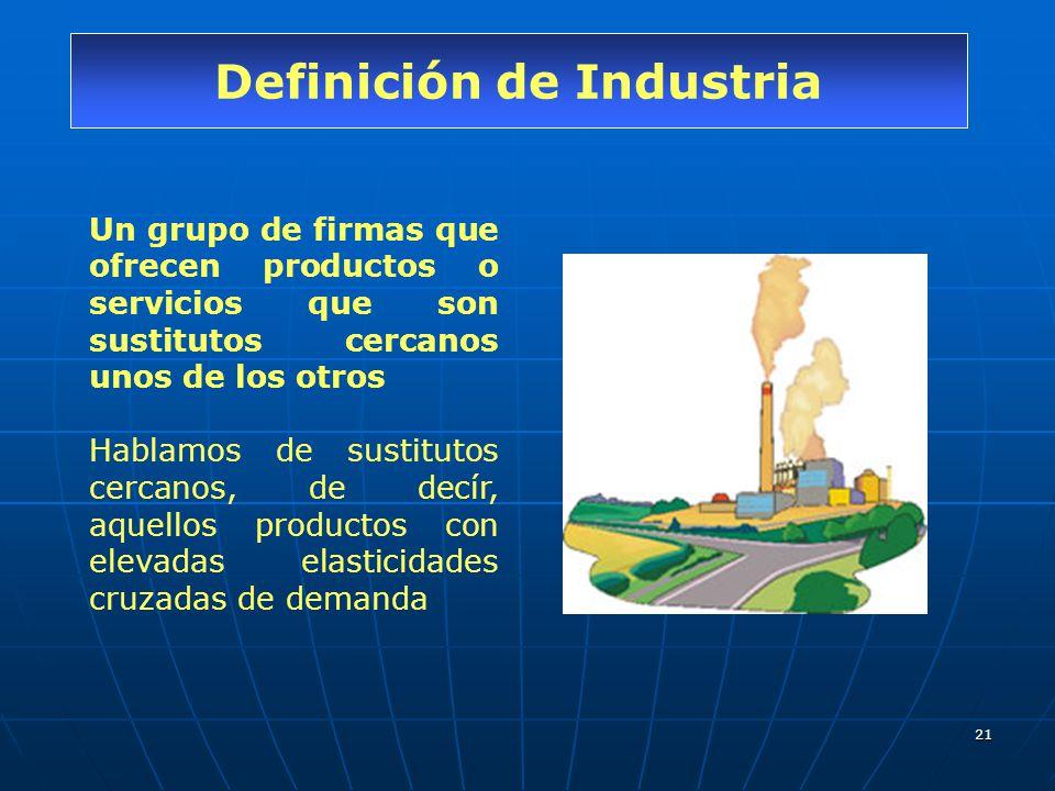 Definición de Industria