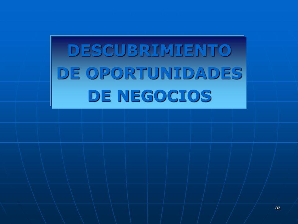 DESCUBRIMIENTO DE OPORTUNIDADES DE NEGOCIOS