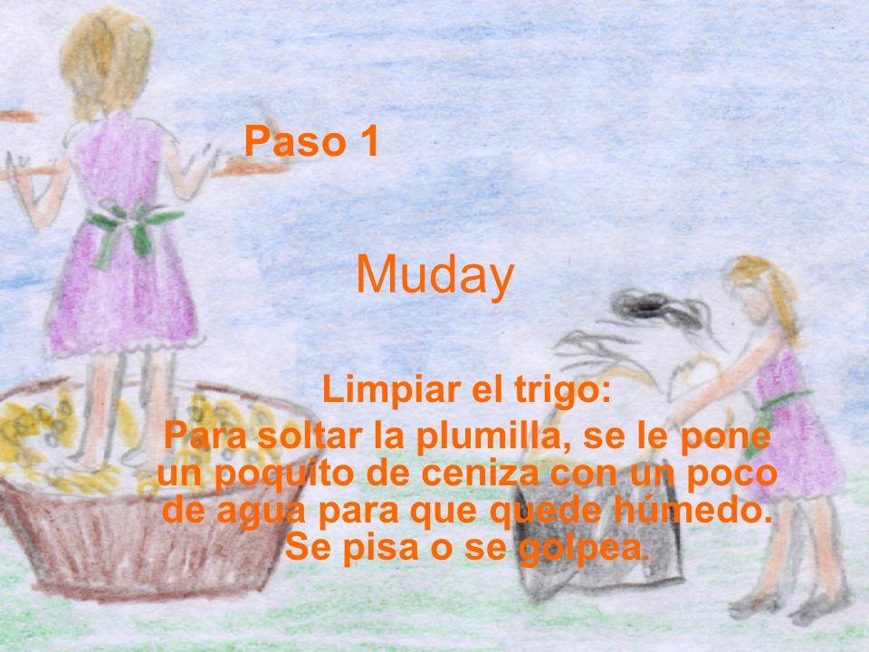 Muday Paso 1 Limpiar el trigo: