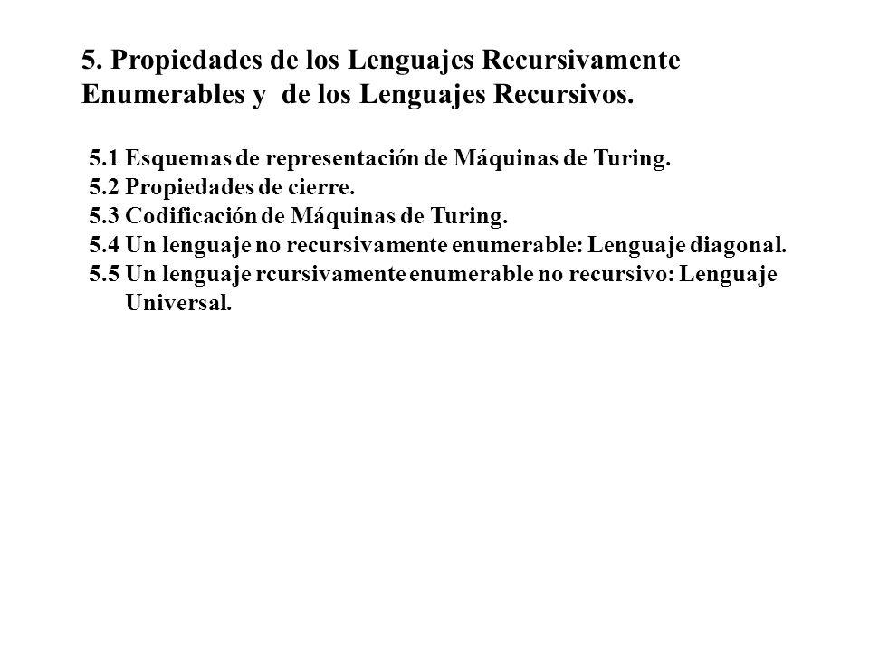 5. Propiedades de los Lenguajes Recursivamente