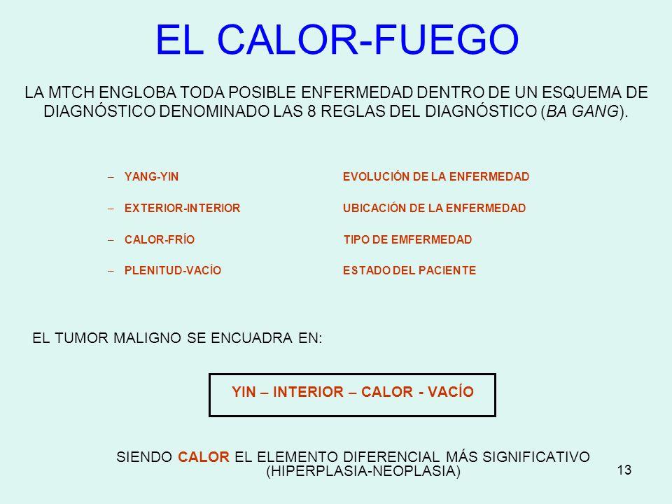 YIN – INTERIOR – CALOR - VACÍO