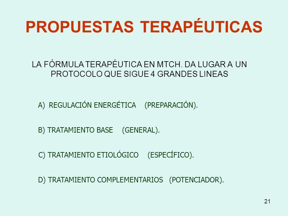 PROPUESTAS TERAPÉUTICAS