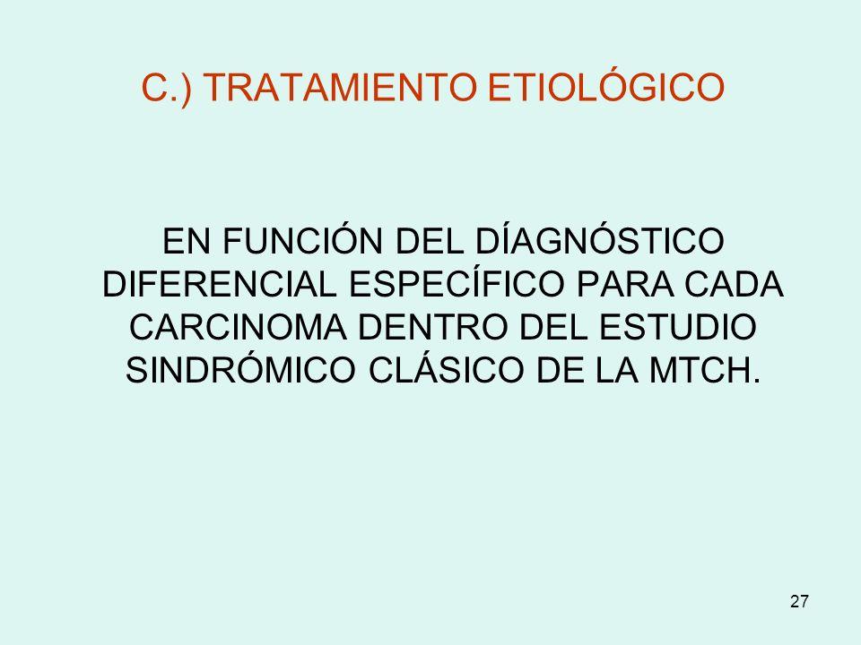 C.) TRATAMIENTO ETIOLÓGICO