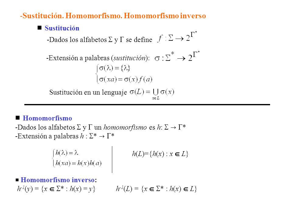 -Dados los alfabetos  y  se define